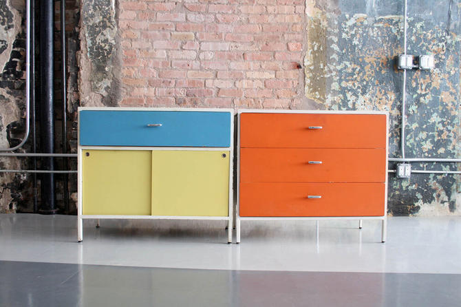 Pair of Steelframe Series Cabinets by George Nelson for Herman Miller