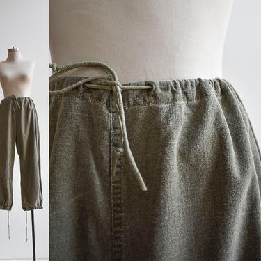Vintage US Army Cotton Drawstring Trousers by milkandice