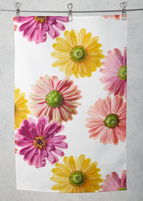 Flower Power Tea Towel