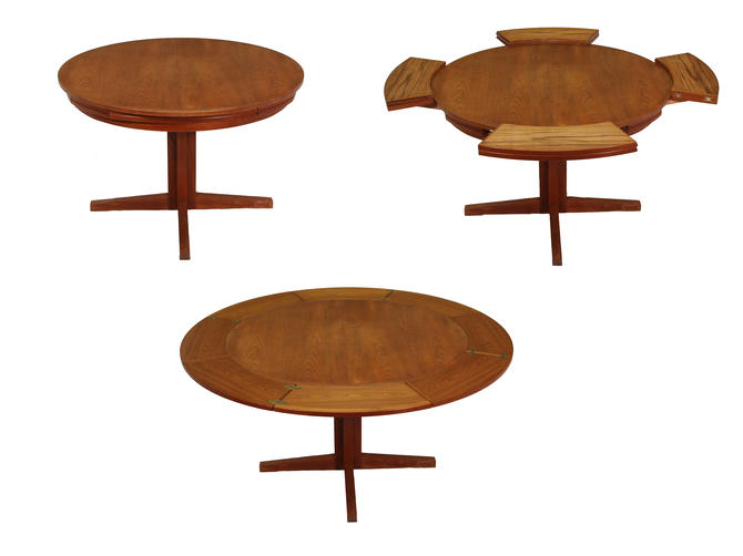 "Mid Century Danish Modern Dyrlund ""Flip-Flap"" Lotus Dining Table by RetroPassion21"