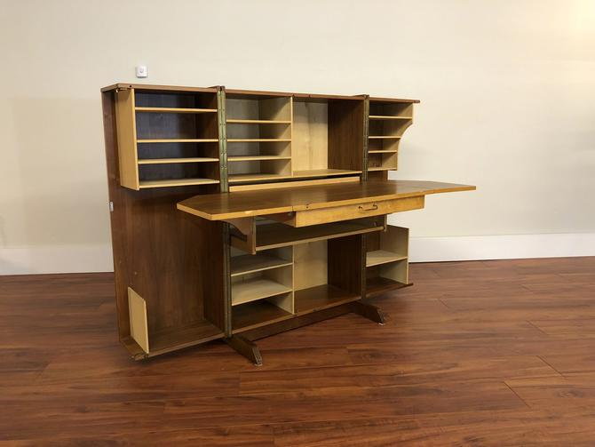 Magic Box Teak Fold Out Desk, Made In Norway
