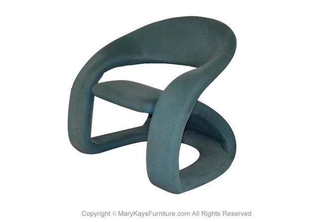 Louis Durot Pierre Paulin Style Sculptural Cantilever Lounge Chair by Marykaysfurniture