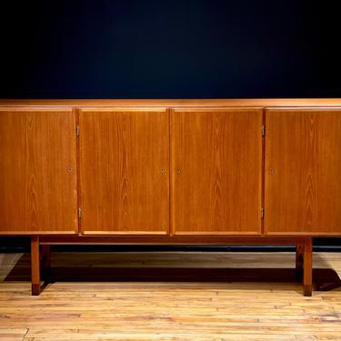 Vintage Danish Modern Omann Jun Teak Sideboard - Mid Century Scandinavian Credenza Cabinet by MidMod414