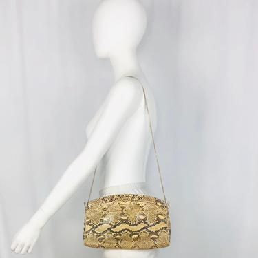 1980s Venetto Snakeskin Convertible Clutch by timelesspieces