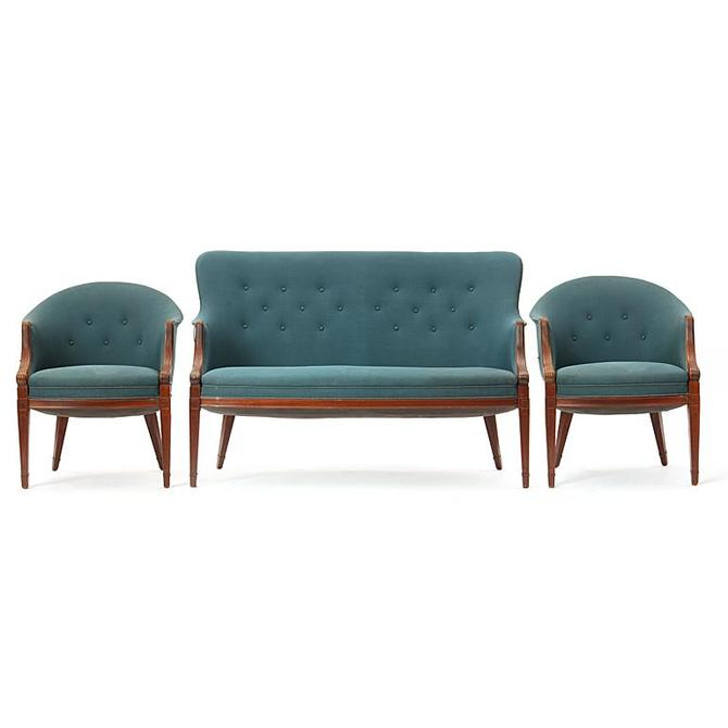 Settee and Pair of Chairs