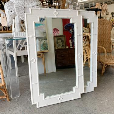 Pair of Faux Bamboo Mirrors by Omega