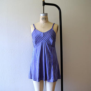 1940s satin swimsuit . vintage 30s 40s playsuit by BlueFennel