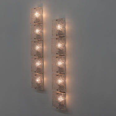 Pair of Mazzega Style Linear Wall Sconces