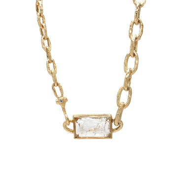 One-of-a-Kind Asymmetric Clear Quartz Necklace