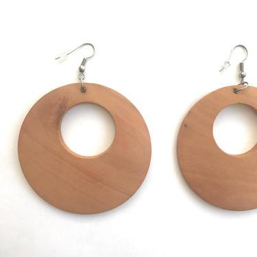 lightweight wooden hoop earrings by harlowandspring