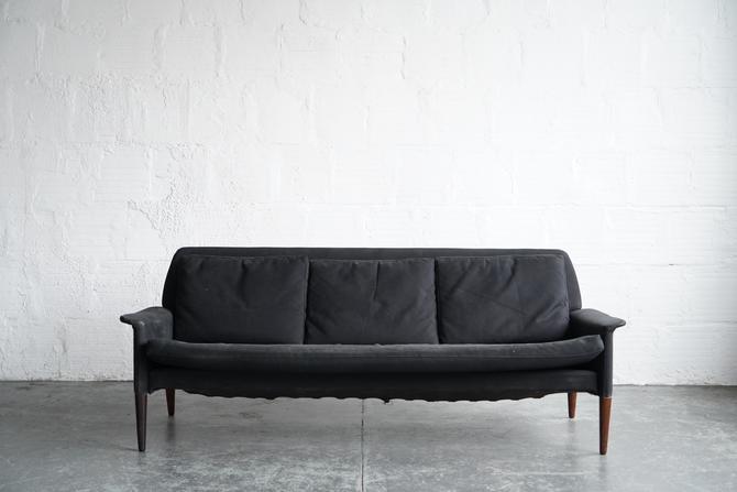 Black Mid Century DUX Sofa
