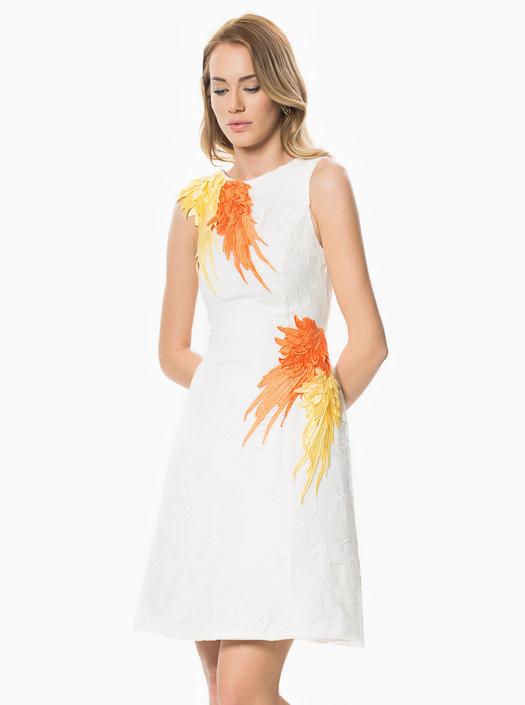 Roman White Dress