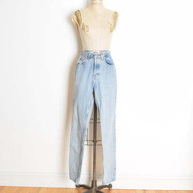 vintage 90s jeans GAP denim high waisted tapered leg button fly pants S grunge clothing by huncamuncavintage