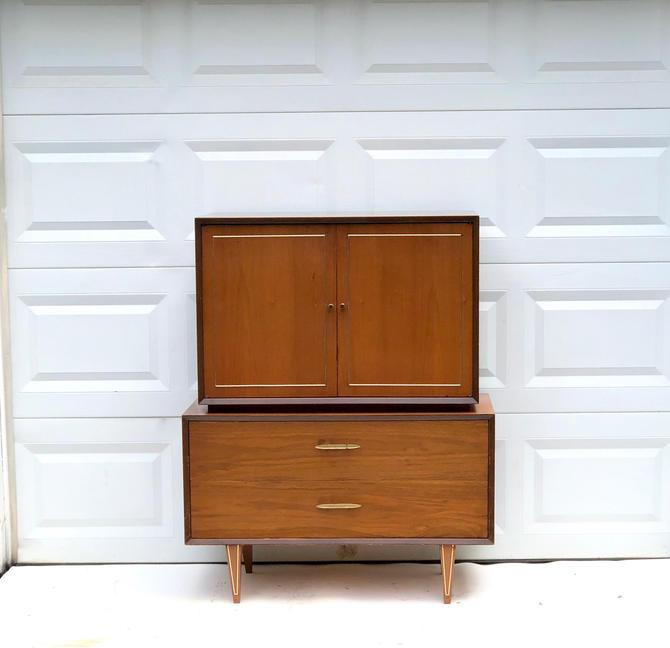Mid-Century Modern Highboy Dresser by secondhandstory