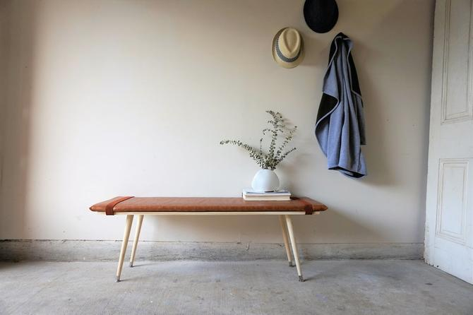 Made to Order Leather + Wood Benches