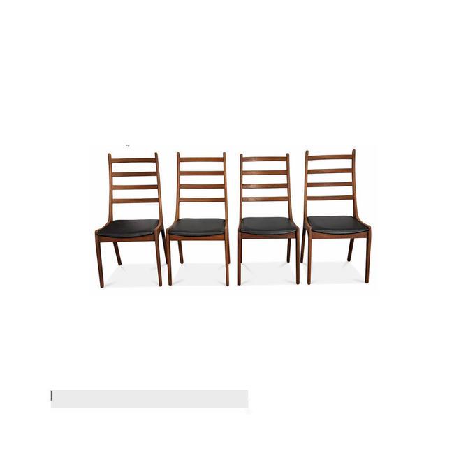 Vintage Danish Mid Century 4 High Back Chairs - Kai K by LanobaDesign
