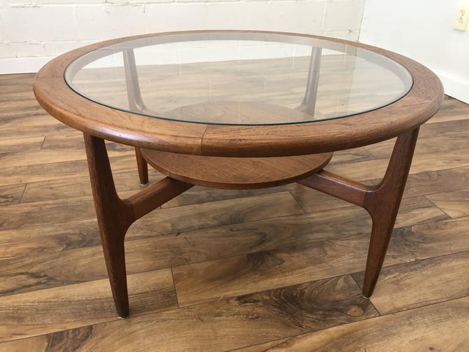 Teak & Glass Danish Modern Coffee Table
