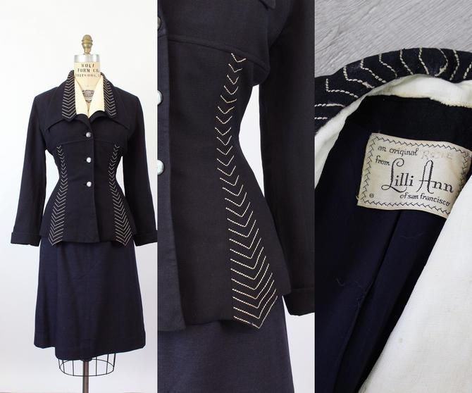 1950s Lilli Ann ARROW double lapels jacket medium | new fall by CrushVintage