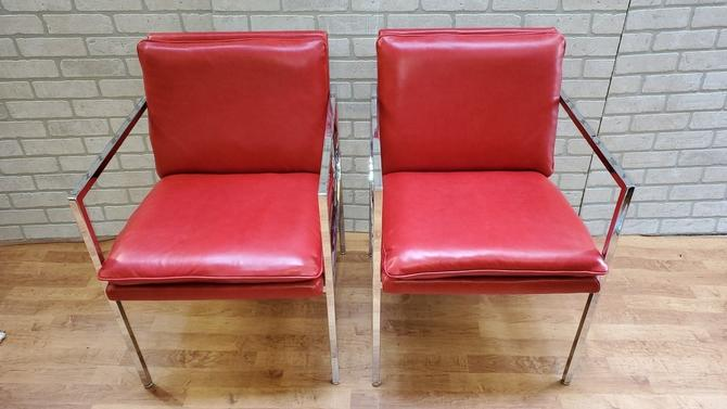 Mid Century Modern Milo Baughman Chairs Newly Upholstered - Pair