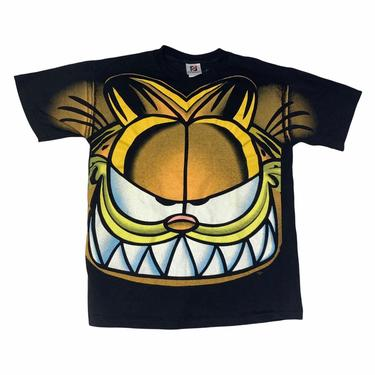 Vintage Garfield All Over Print Double Sided T Shirt Signal Artwear Made in USA by OverTheYearsFinds