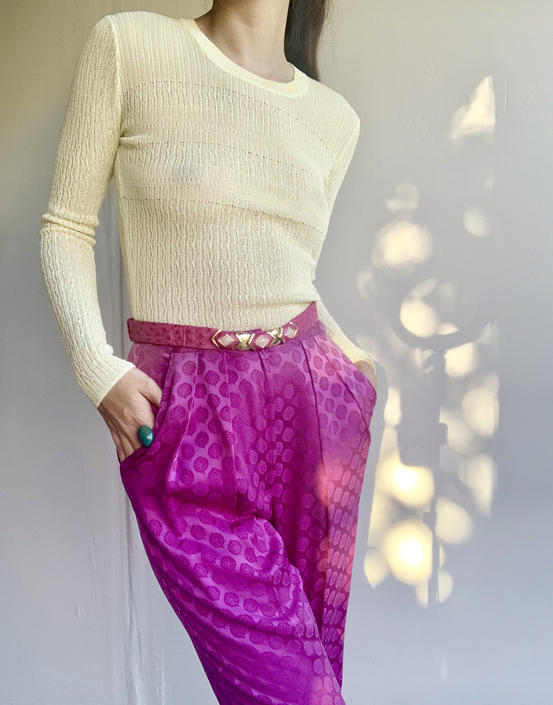 90s BCBG Maxazria Yellow Sweater Top by VintageRosemond