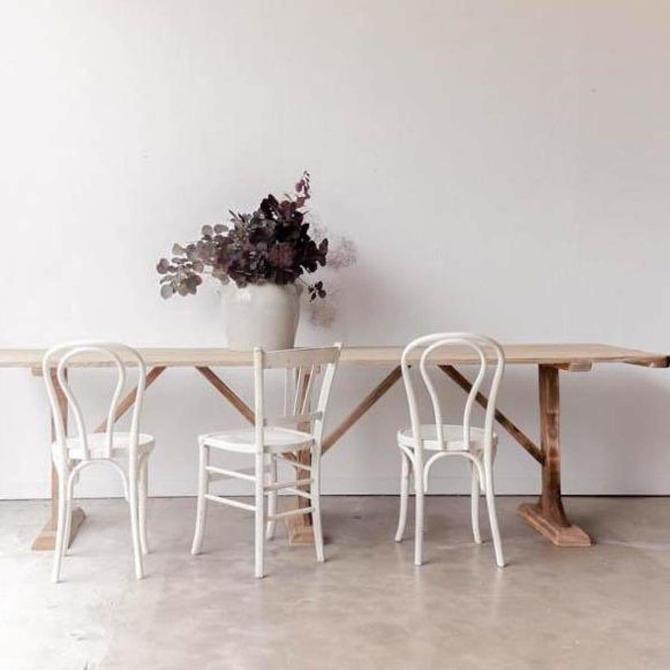Pine Sawhorse Table