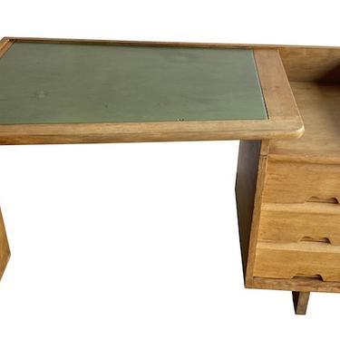 Guillerme & Chambron Oak Desk, for Votre Maison, 1950