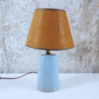 Vintage Martz Marshall Studios Ceramic Table Lamp With Clip-on Shade by MostlyMidModern