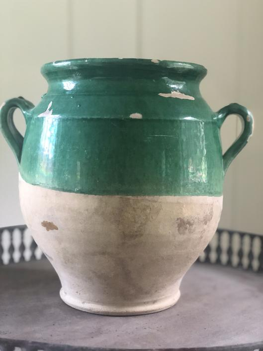 French pottery urn