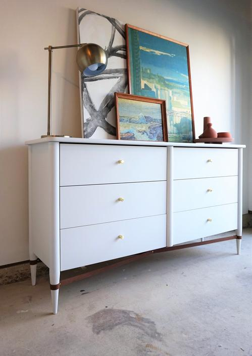 Now Available: Wood + Leather Dresser