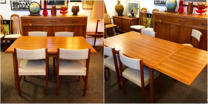 Danish Teak Dining Table + 4 Chairs