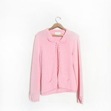 Pastel Pink Lacey 90s Cardigan by LooseGoods