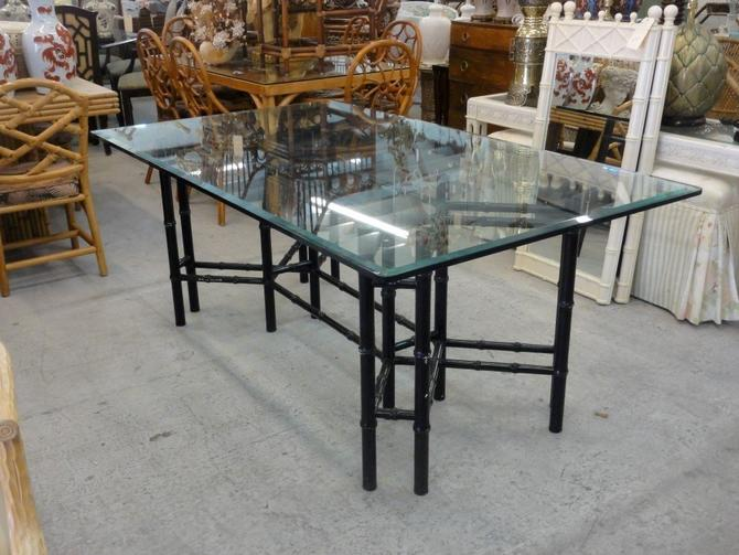 Palm Beach Faux Bamboo Dining Table