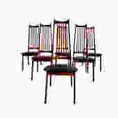 Mid Century MODERN WALNUT DINING Chairs, Set/6 by CIRCA60