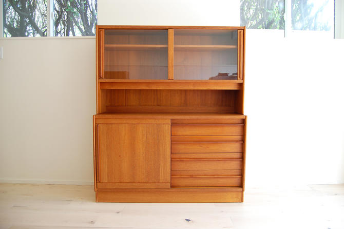 Danish Modern Teak China Hutch Made in Denmark by MidCentury55