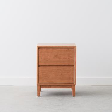 Hayward Nightstand / Bedside Table - Two Drawers - Available in other woods by HedgeHouse