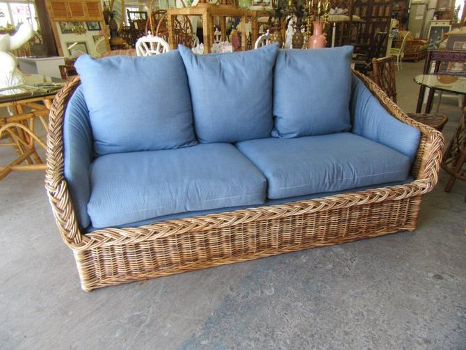 Wicker Works Rattan Sofa