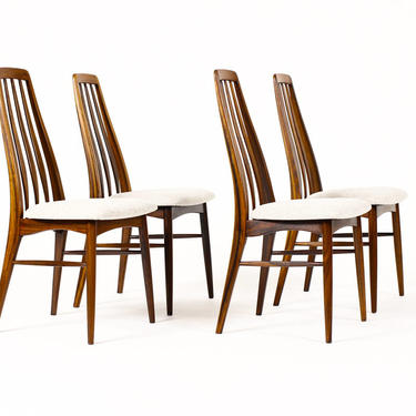 """Danish Modern / Mid Century """"Eva"""" Dining Chairs — Niels Koefoed — Rosewood Frames — Set of Four by atomicthreshold"""