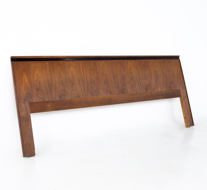 Merton Gershun for Dillingham Esprit Mid Century Walnut King Headboard - mcm by ModernHill
