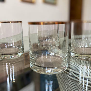 Toscany Gold Rimmed Lead Crystal Cocktail Glasses - Set of 5 by AntiquetoChicChicago