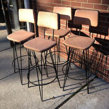 Frederick Weinberg Bar Stools Set of 4 by bcdrygoods