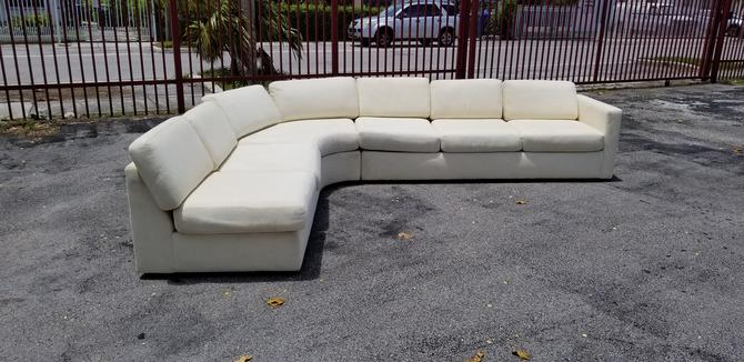Milo Baughtman for Thayer Coggin Three Pieces Sectional Sofa . by MIAMIVINTAGEDECOR