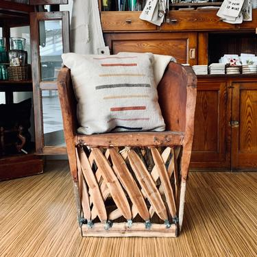 Vintage Mexican Equipale Chair | Mexican Leather and Wood Chair | Side Chair | Porch Chair | Rustic Chair by PiccadillyPrairie