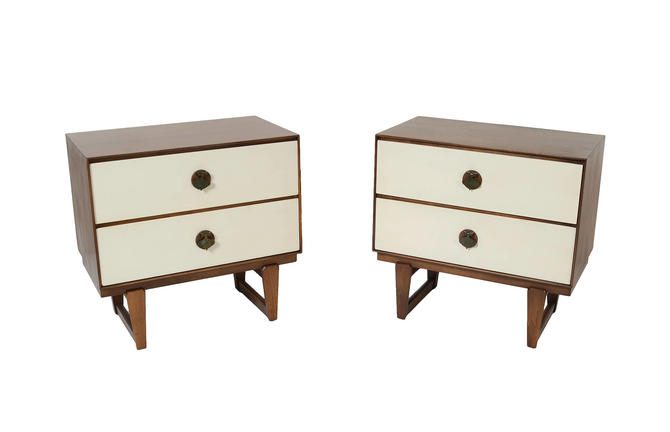 MCM Walnut Nightstands by Stanley