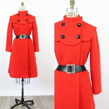 1960s PIERRE CARDIN coat xs | vintage scalloped space age coat | new fall by CrushVintage