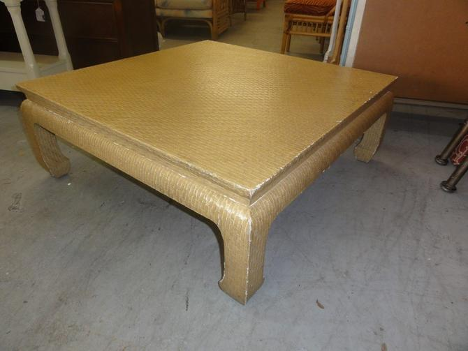 Baker Wrapped Ming Footed Coffee Table