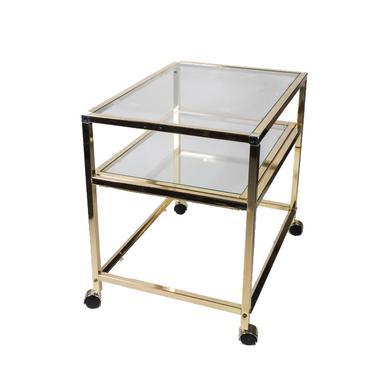 Vintage Brass Bar / Serving Cart
