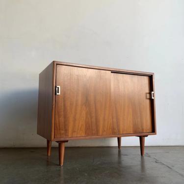 Minimal compact sliding door credenza by VintageOnPoint