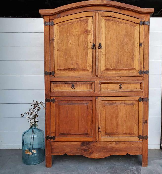 Natural Pine Large Armoire