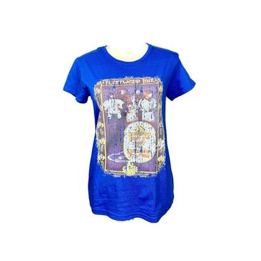 Vintage Clothing 90's Fleetwood Mac Knock Off Tour T-Shirt, Oakland Stadium 1977 Tee, Stevie Nicks, Fleetwood Mac Band Tee Blue Size Medium by DakodaCo